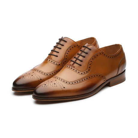 Adelaide Brogue Oxford // Tan Leather (US: 7)