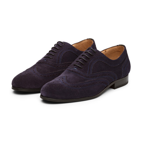 Wingtip Oxford // Navy Suede (US: 7)