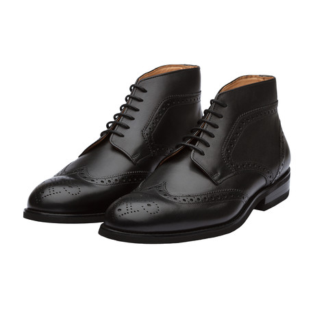 Wingtip Brogue Boot // Black Leather (US: 7)