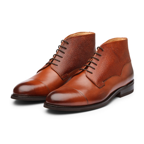 Balmoral Leather Boot // Cognac Grain (US: 7)