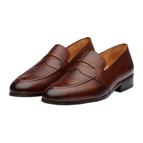 Saddle Penny Loafers // Medium Brown Grain (US: 7)