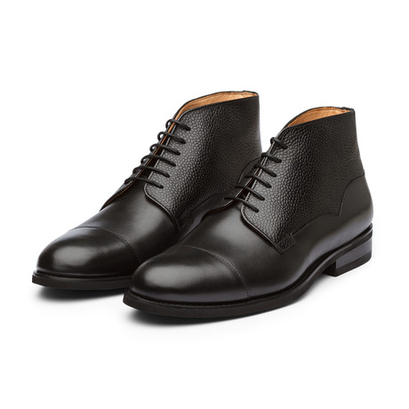 Balmoral Leather Boot // Black Grain (US: 7)