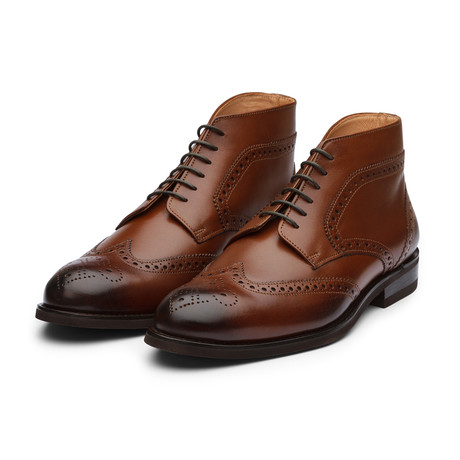 Wingtip Brogue Boot // Brown Leather (US: 7)