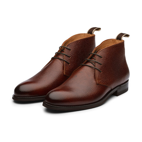 Pebble Grain Leather Chukka Boot // Brown (US: 7)