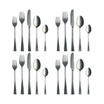 Italia Cutlery // 20 Piece Set // Brushed Stainless