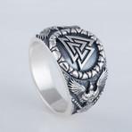 Valknut + Raven Style Ring (10)
