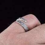 Geometric Snake Style Ring (9.5)