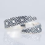 Geometric Snake Style Ring (11.5)