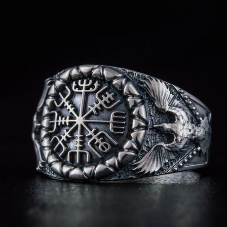 Vegvisir + Raven Style Ring (6)