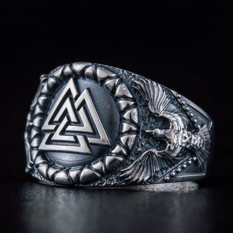 Valknut + Raven Style Ring (6)