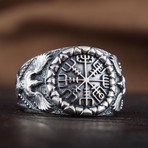 Vegvisir + Raven Style Ring (9)