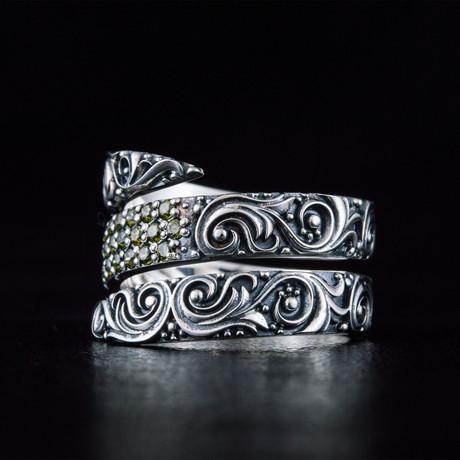 Snake Style Ring + Gems (6)