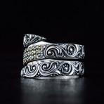 Snake Style Ring + Gems (9.5)