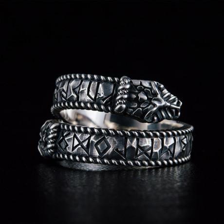 Runes Ouroboros Ring // Silver (6)