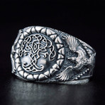 Yggdrasil + Raven Style Ring (10.5)