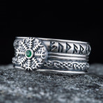 Helm Of Awe CZ Viking Ring (11.5)