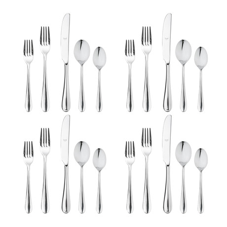 Natura Cutlery // 20 Piece Set (Glossy Stainless)