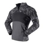 Long sleeve t-shirt // Snake Print + Black (XL)