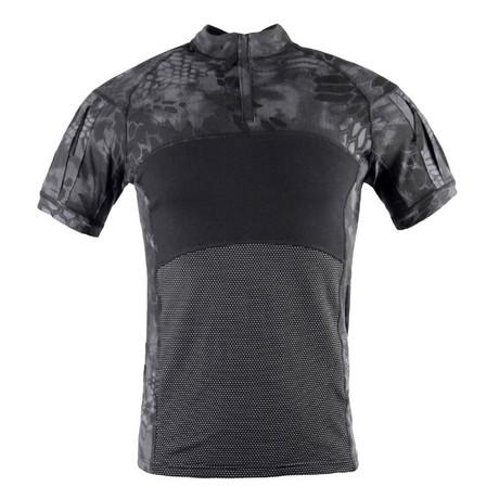 Snake Print T-Shirt // Black (XS)