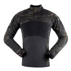 Long sleeve t-shirt // Camouflage Print + Black (3XL)