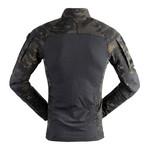 Long sleeve t-shirt // Camouflage Print + Black (S)