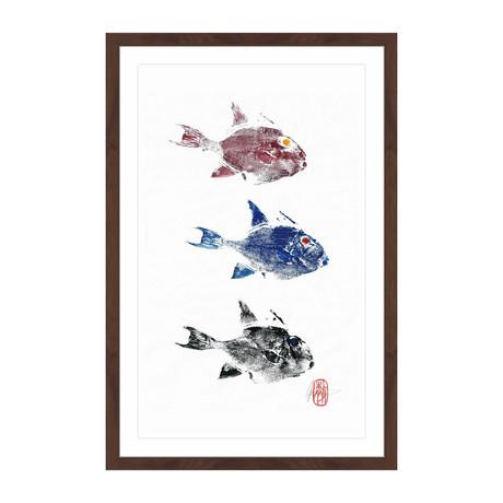"""3 Trigger Fish (18""""H x 12""""W x 1.5""""D)"""