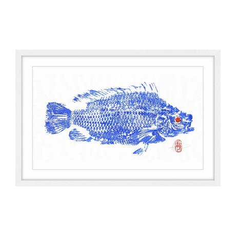 "Tilapia Blue (8""H x 12""W x 1.5""D)"