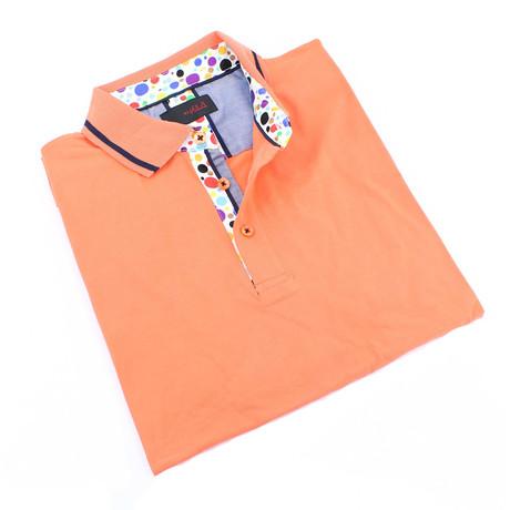 Carmet Stripe Polo // Orange (S)