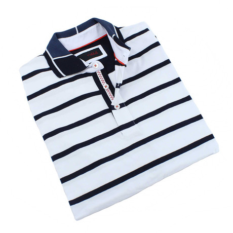 Kruse Stripe Polo // White (S)