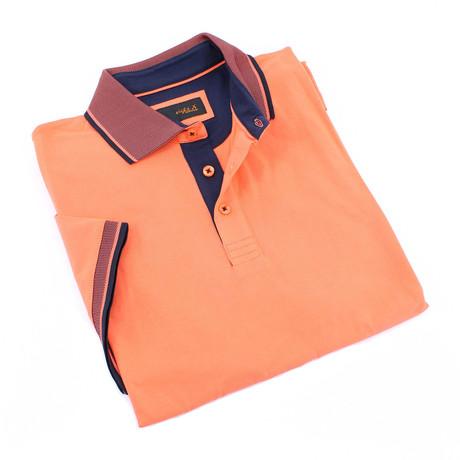 Morro Slim Fit Contrast Polo // Orange (S)