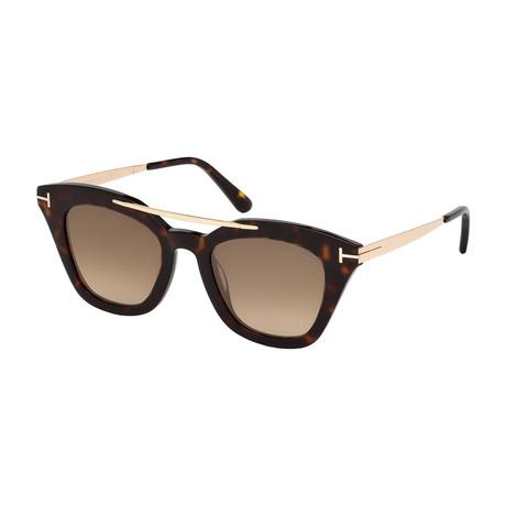 Women's Anna Sunglasses // Tortoise + Gold + Mirrored Brown