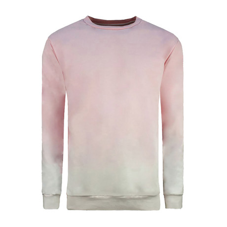 Ombre Long Sleeve Crewneck Sweatshirt // Pink (XS)