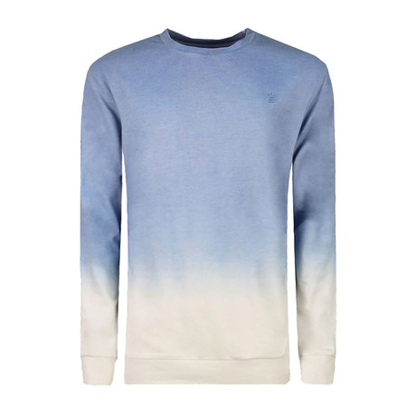 Ombre Long Sleeve Crewneck Sweatshirt // Blue (XS)