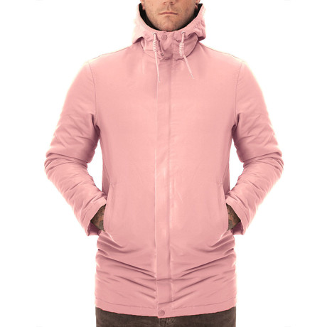 Hooded Windbreaker // Pink (XS)