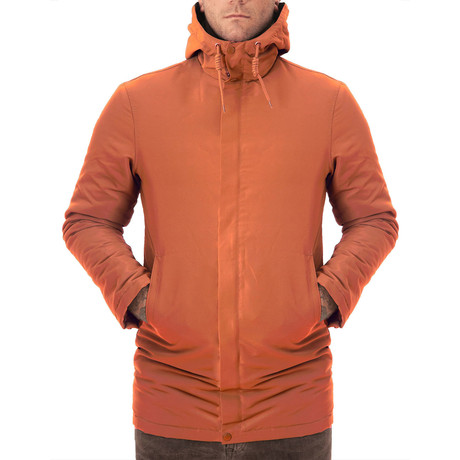 Hooded Windbreaker // Orange (XS)