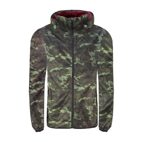 Camo Lightweight Windbreaker // Green (XS)