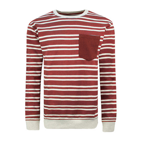 Long Sleeve Crewneck Sweater // Deep Red (XS)
