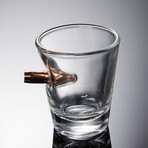 Shot Glass + Wooden Coaster // Set of 2