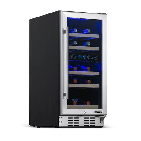 "NewAir 15"" Wine Fridge // Built-in 29 Bottle Dual Zone Compressor"