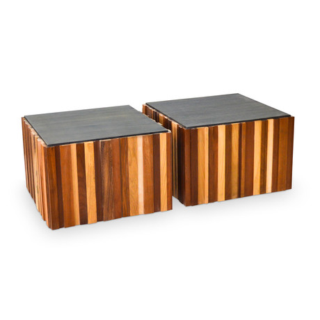 Salvage Wood Coffee Table // Set of 2