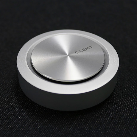 Car Perfume Diffuser Dm1 Pebble // Cylinder (Silver)