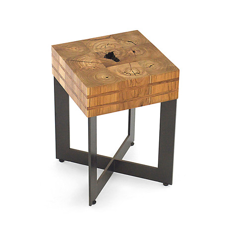 Retalho Teak Wood Stool + Side Table