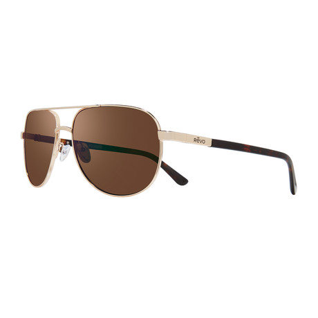 Conrad S Polarized Sunglasses // Gold Frame + Terra Lens