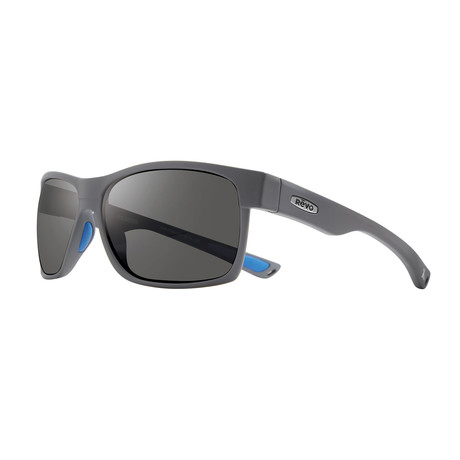 Espen BS Polarized Sunglasses (Matte Graphite Frame + Blue Lens)