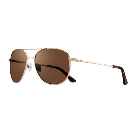 Maxie S Polarized Sunglasses (Gold Frame + Blue Lens)