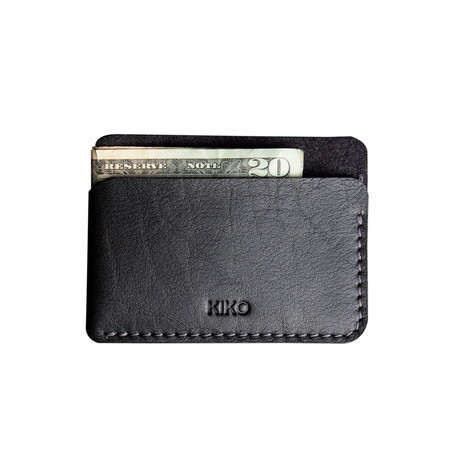 Triple Pocket Card Case // Black