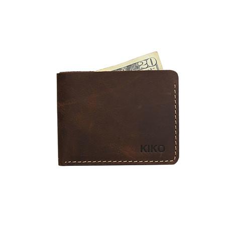 Straight Cut Bifold Wallet // Brown