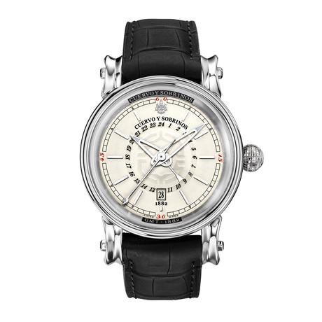 Cuervo y Sobrinos Pirata GMT Automatic // 3052.1WGMT