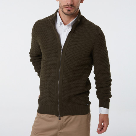 Chapin Cardigan // Dark Green (S)