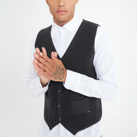 Ithan Vest // Anthracite (S)